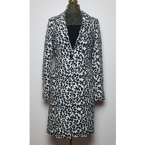 Rachel Zoe NEW Long Leopard Print Coat